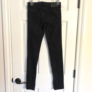 All Saints black skinny jeans with ankle zipper